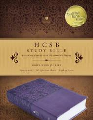 HCSB Study Bible Purple LeatherTouch