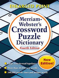 Merriam-Webster's Crossword Puzzle Dictionary New Enlarged Print