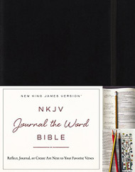 NKJV Journal the Word Bible Black Red Letter Edition