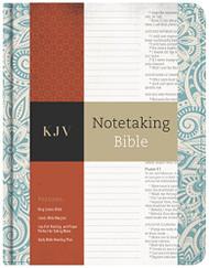 KJV Notetaking Bible Blue Floral