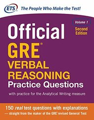Official GRE Verbal Reasoning Practice Questions Volume 1