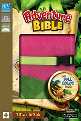 NIV Adventure Bible Imitation Leather Pink/Green Full Color