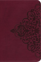 NIV Single-Column Bible Imitation Leather Burgundy