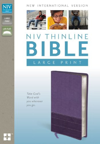 Leather Thinline Bible Large Print Leather NIV
