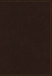 King James Study Bible Bonded Leather Brown Indexed Full-Color Edition