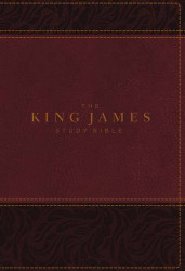 King James Study Bible Imitation Leather Burgundy Full-Color Edition