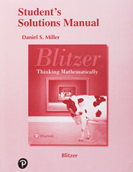 Student Solutions Manual for Thinking Mathematically