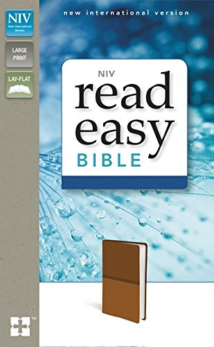 NIV ReadEasy Bible Large Print Leathersoft Tan Red Letter Edition