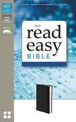 NIV ReadEasy Bible Large Print Leathersoft Black Red Letter Edition