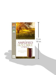 Amplified Holy Bible Compact Leathersoft Tan/Burgundy