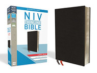 NIV Thinline Bible Large Print Bonded Leather Black Red Letter Edition