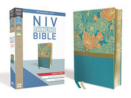 NIV Thinline Bible Large Print Leathersoft Blue Red Letter Edition
