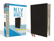 NIV Thinline Bible Giant Print Bonded Leather Black Indexed Red Letter