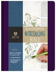 HCSB Illustrator's Notetaking Bible Purple Linen