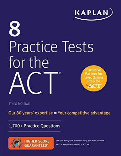 8 Practice Tests for the ACT