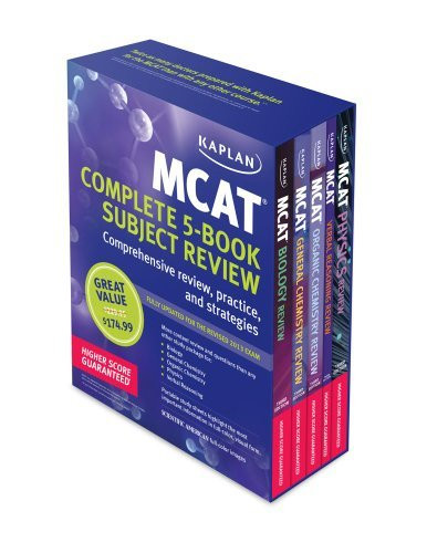 Kaplan Mcat Review Complete 5-Book Subject Review