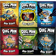 Dav Pilkey Adventures of Dog Man Series 1-6 Books Collection Set