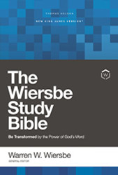 NKJV Wiersbe Study Bible Hardcover Red Letter Edition Comfort Print