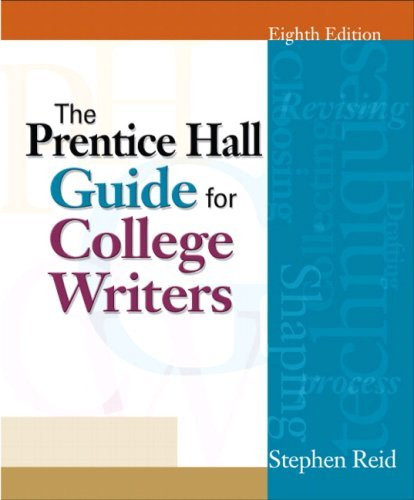 Prentice Hall Guide For College Writers Brief Version