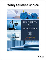 Hospitality Law A Manager's Guide to Legal Issues in the Hospitality Industry