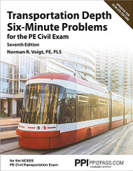 Transportation Depth Six-Minute Problems for the PE Civil Exam