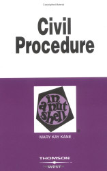 Civil Procedure In A Nutshell  Mary Kay Kane