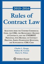 Rules Of Contract Law Statutory Supplement by Knapp Charles L.