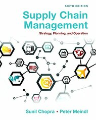 Supply Chain Management: Strategy Planning and Operation
