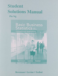Student Solutions Manual for Basic Business Statistics  - by Mark Berenson