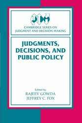 Judgments Decisions and Public Policy