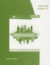Study Guide With Working Papers For Heintz/Parry's College Accounting