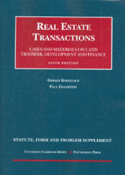 Statute Form And Problem Supplement To Real Estate Transactions