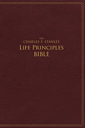 Charles F. Stanley Life Principles Leather Bible