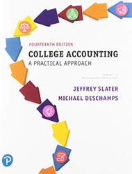 College Accounting Chapters 1-12  by Jeffrey Slater