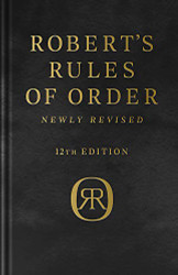 Robert's Rules of Order Newly Revised Deluxe