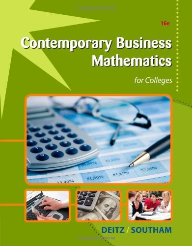 Contemporary Business Mathematics For Colleges