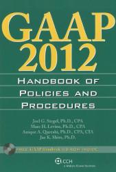 GAAP Handbook of Policies and Procedures