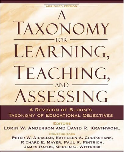 Taxonomy For Learning Teaching And Assessing