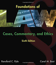 Foundations of Law: Cases Commentary and Ethics
