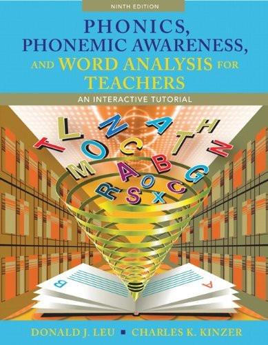 Phonics Phonemic Awareness And Word Analysis For Teachers