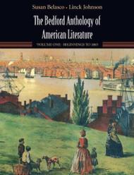Bedford Anthology Of American Literature Volume 1