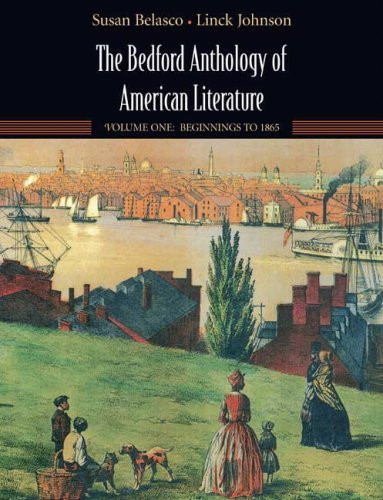 Bedford Anthology Of American Literature Volume 1