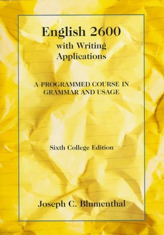 English 2600 With Writing Applications