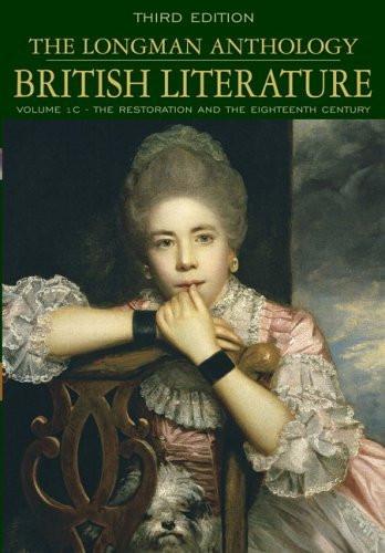 Longman Anthology Of British Literature Volume 1C