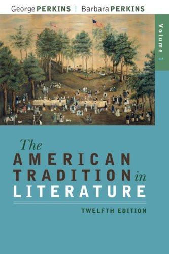 American Tradition In Literature Volume 1