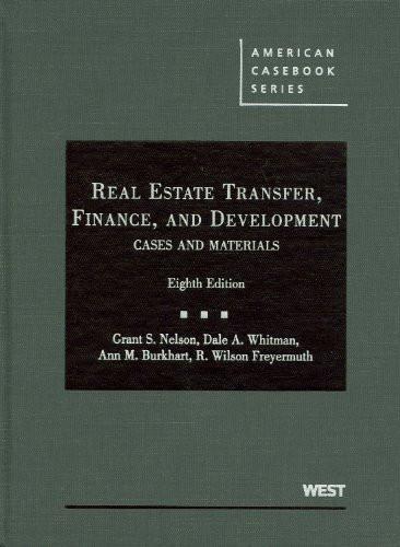 Real Estate Transfer Finance And Development