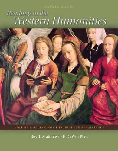 Readings In The Western Humanities Volume 1