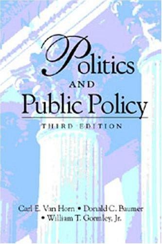 Politics And Public Policy