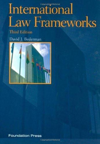 International Law Frameworks