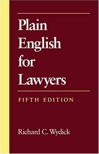 Plain English For Lawyers